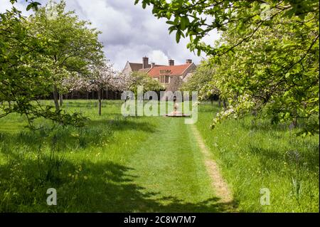 Lytes Cary Manor house with associated chapel and gardens near Charlton Mackrell and Somerton in Somerset - Stock Photo