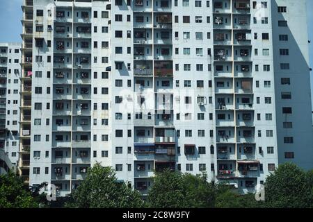 Housing tower blocks in Kuala Lumpur, Malaysia