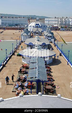 Eastbourne seen from in front of the camera obscura at the end of the pier, East Suusex, England, 2009 - Stock Photo