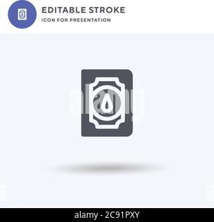 Spellbook icon vector, filled flat sign, solid pictogram isolated on white, logo illustration. Spellbook icon for presentation. Stock Photo