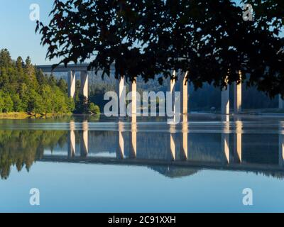 Lake Bajer in Fuzine Croatia Europe - Stock Photo
