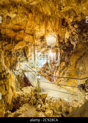 Biserujka cave in island Krk in Croatia Europe - Stock Photo