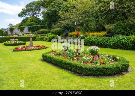 Colourful floral display in The Lodge Gardens in North Berwick, East Lothian, Scotland, UK - Stock Photo