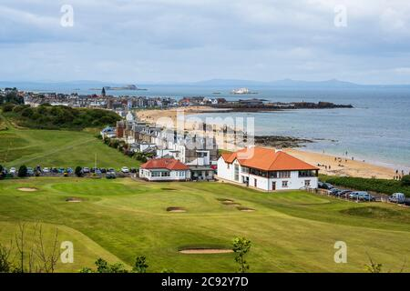 Glen Golf Course North Berwick in East Lothian, Scotland, UK - Stock Photo