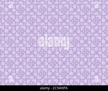 Purple abrstract Seamless Pattern. Tribal Ethnic Design. Chevron Brush Texture. Boho Water Print. African Graffiti. Geometric Hand Drawn Textile Ornat - Stock Photo