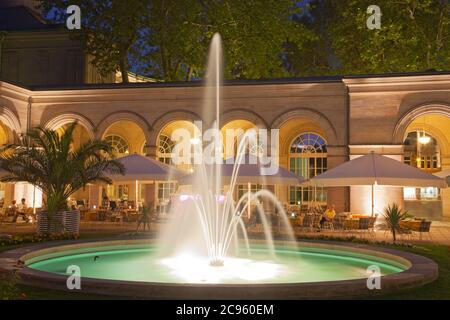 geography / travel, Germany, Bavaria, Bad Kissingen, spa gardens, arcade, Additional-Rights-Clearance-Info-Not-Available