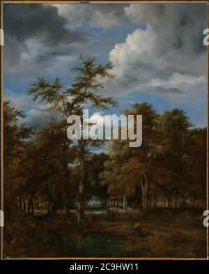 Jacob van Ruisdael - Woodland Vistas. - Stock Photo