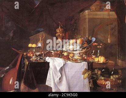 Jan Davidsz. de Heem - A Table of Desserts - Stock Photo