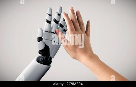 Future artificial intelligence robot and cyborg. - Stock Photo
