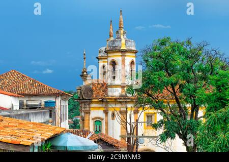 Sao Francisco de Assis Church, Ouro Preto, Minas Gerais, Brazil Stock Photo