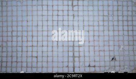 artistic ceramic mosaic in grayscale - Stock Photo
