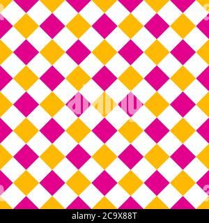 pink and yellow rhombus seamless pattern vector illustration background