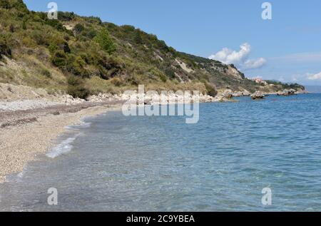 Limenia Beach, Cephalonia, Greece - Stock Photo