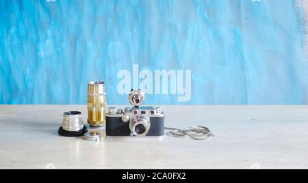 Empty frame of photographic analog film, camera film, grungy photo frame, free space for pix, vector - Stock Photo