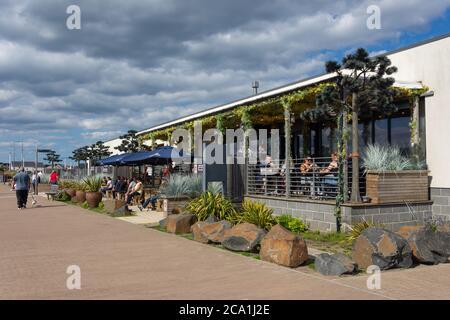 Bar88 bar and restaurant on the promenade, Seaburn, Sunderland, Tyne and Wear, England, United Kingdom - Stock Photo