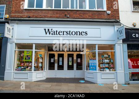Windsor, Berkshire, UK. 3rd August, 2020. Waterstones is reportedly to make redundancies at it's Head Office in Piccadilly following the Coronavirus Pandemic. Credit: Maureen McLean/Alamy - Stock Photo