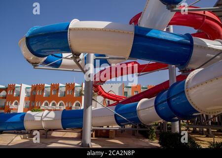 a large water park in the complex