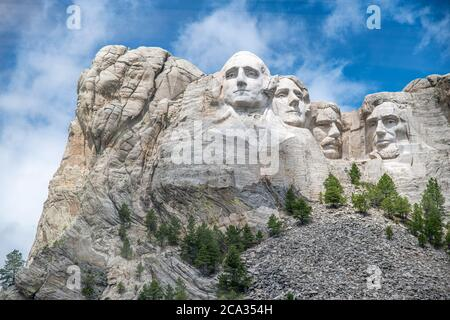 Famous Landmark and Sculpture - Mount Rushmore National Monument, near Keystone, South Dakota - USA.
