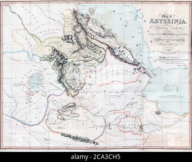 Map of Abyssinia and the Adjacent Districts. From observations taken by British traveller and artist Henry Salt in 1809 and 1810. Drawn by J. Outhett