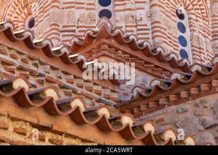 Greece, Thessaly, Meteora, classified World Heritage by UNESCO, Monastery Varlaam - Stock Photo