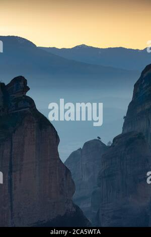 Greece, Thessaly, Meteora, classified World Heritage by UNESCO, Meteora - Stock Photo