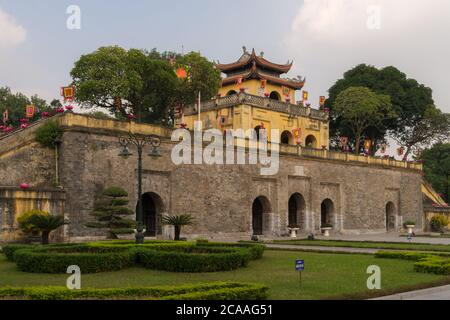 The main gate of the former imperial citadel Thang Long in Vietnams capital Hanoi - Stock Photo