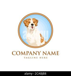 dog realistic vector design illustration  for your company or brand - Stock Photo