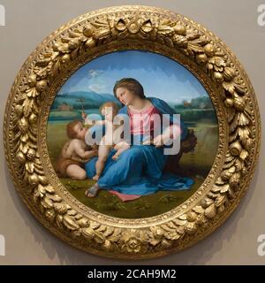 The Alba Madonna, Raphael, circa 1510, National Gallery of Art, Washington DC, USA, North America - Stock Photo