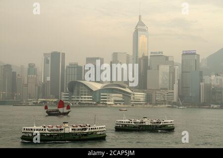 Star Ferries at Victoria Harbour Hong Kong