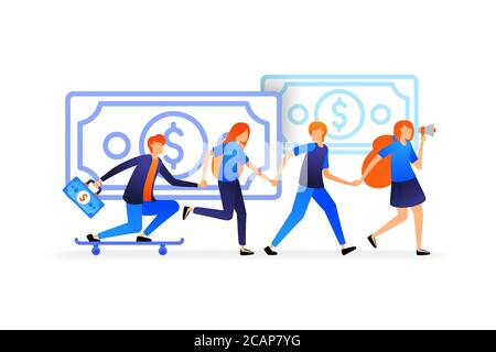 people holding hands.  workers strengthen relationships for solid team work. people support and help each other vector illustration concept for, landi - Stock Photo