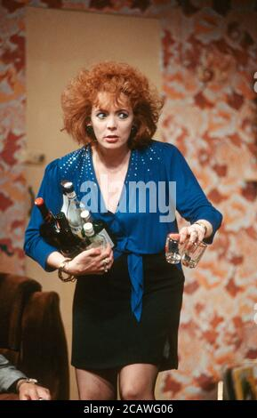 THE RISE AND FALL OF LITTLE VOICE by Jim Cartwright music: Terry Davies design: William Dudley lighting: Mick Hughes movement: Jane Gibson director: Sam Mendes  Alison Steadman (Mari Hoff) Cottesloe Theatre, National Theatre (NT), London SE1 16/06/1992 (c) Donald Cooper - Stock Photo