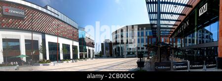 Time Square,Warrington,Cheshire,England,UK, new Vinci Construction development,retail and market place - Stock Photo