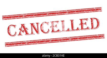 Red Rubber Cancelled Stamp illustration, professional print