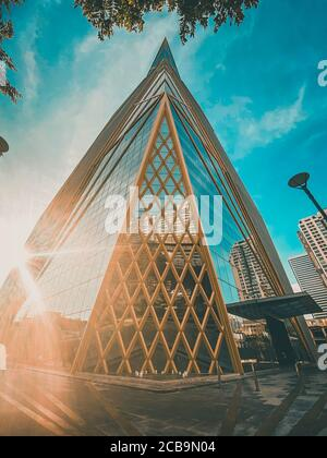 Bangkok Office building in Ratchathewi, Thailand - Stock Photo