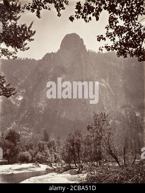 Sentinel Rock, Yosemite, ca. 1872, printed ca. 1876. - Stock Photo