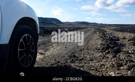 Road Trip Through the Icelandic Highlands - Stock Photo