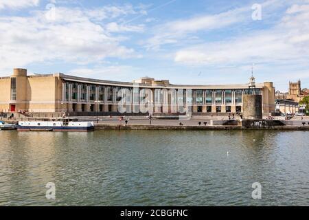Lloyds bank HQ building and amphitheatre, Harbourside, Bristol, England. July 2020