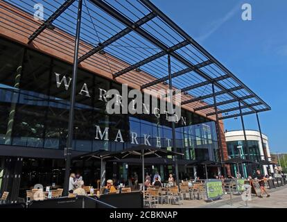 VINCI Construction,New Market Hall, Warrington Town Centre Redevelopment, Time Square,Academy Way,Warrington,Cheshire,England,UK, WA1 - Stock Photo