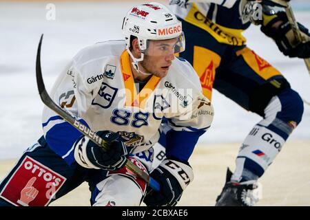 Anton Gradin # 88 (EVZ Academy) during the National and Swiss League preparation ice hockey game between EV Zug and EVZ Academy on August 16, 2020 in the Bossard Arena in Zug. Credit: SPP Sport Press Photo. /Alamy Live News