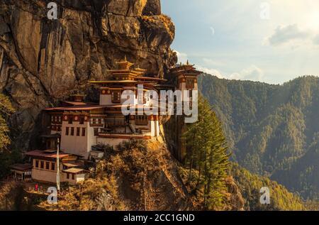 The world famous Tiger's Nest Monastery or Taktshang Goemba in Bhutan