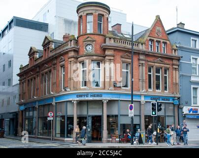 View on the Caffe Nero in Belfast city, Northern Ireland, UK, - Stock Photo