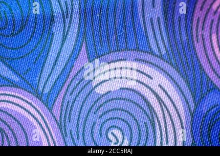 Spiral Psychedelic design in purple blue and reds - Stock Photo