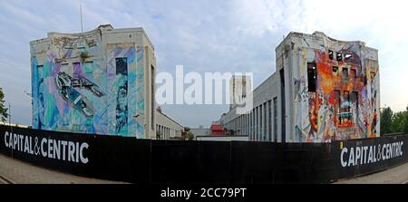 Edge Lane, Littlewoods Pools Building, Liverpool, Merseyside, North West England,England, UK - Capital & Centric film studios - Stock Photo