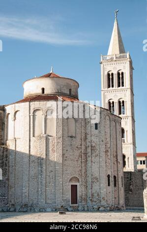 The Church and belfry of St. Donatus is a church located in Zadar, Croatia - Stock Photo