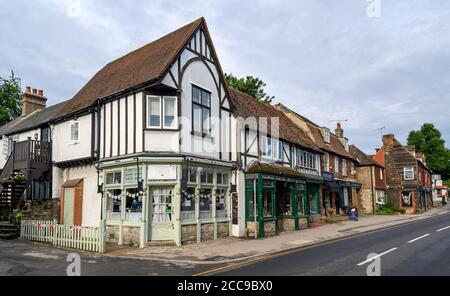 The High Street in Otford, Kent, UK where some of the buildings date back to the 15th century. Otford High Street is a designated conservation area. - Stock Photo