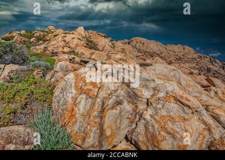 Yallingup Canal Rocks in Western Australia - Stock Photo