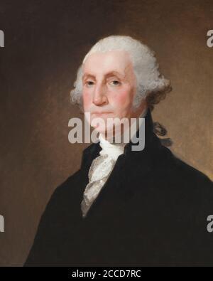 George Washington, Gilbert Stuart, circa 1821, National Gallery of Art, Washington DC, USA, North America - Stock Photo