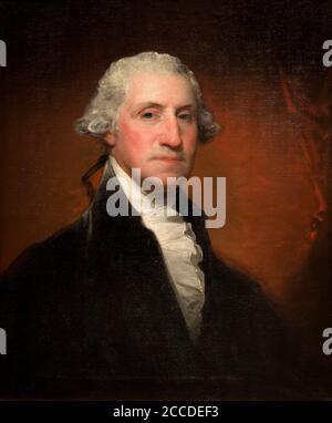 George Washington, Vaughan-Sinclair Portrait, Gilbert Stuart, 1795, National Gallery of Art, Washington DC, USA, North America - Stock Photo
