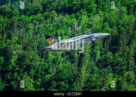 Swiss Air Force, F / A-18C Hornet J-5011, Meiringen, Switzerland - Stock Photo