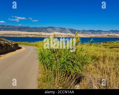 Beautiful view atop Sv. duh on island Pag in Croatia Europe - Stock Photo